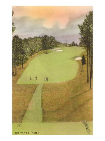 Rendering of Golf Course, 385 Yards, Par 4