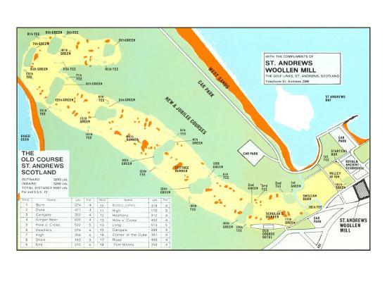 Map of St. Andrews Golf Course Golf Courses In Scotland Map on gleneagles scotland map, golf in england map, airports in scotland map, scottish golf map, distilleries in scotland map, uk golf map, golf courses in london, beaches in scotland map, golf resort map, lakes in scotland map, st andrews golf course map, castles in scotland map,