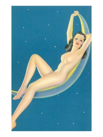 Nude Lounging on Moon