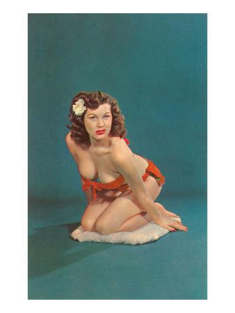 Pin-Up with Gardenia in Hair