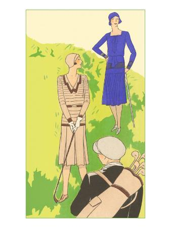 Flappers golfing