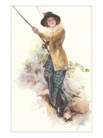 Lady with Fishing Rod