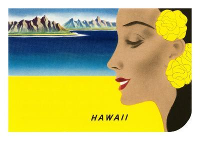 Hawaiian Lady with Islands, Graphics