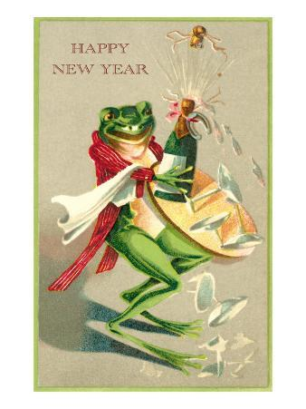 Sommelier Frog Popping Champagne Cork