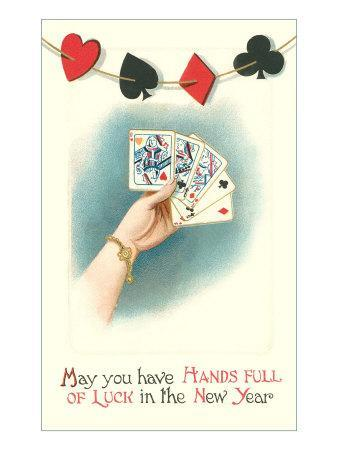 Poker Hand with Three Queens