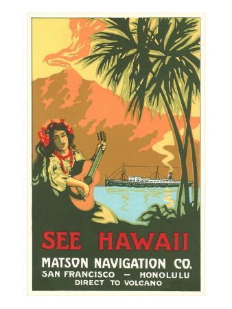 See Hawaii, Ocean Liner Advertisement