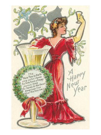 Happy New Year, Victorian Lady, Poem