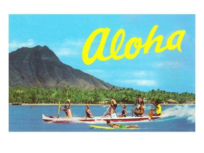 Aloha, Riding Outrigger, Hawaii