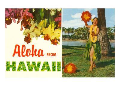 Aloha from Hawaii, Hula Girl and Flowers