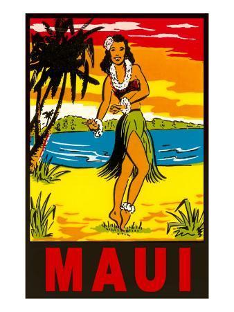 Maui, Hula Girl, Hawaii