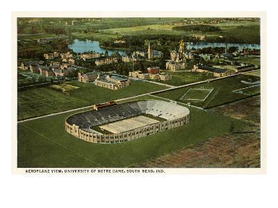Aerial View, Stadium, Notre Dame, Indiana