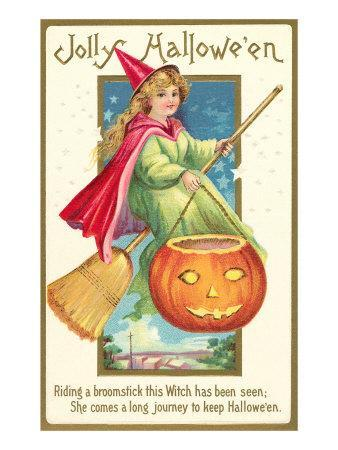 Little Witch with Jack O'Lantern