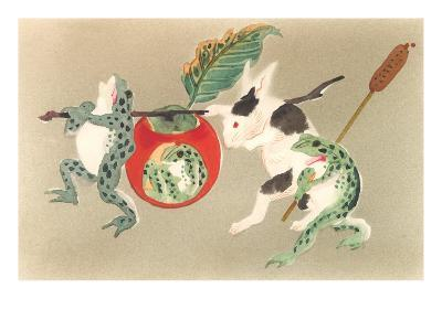 Frogs and Rabbit Carrying Palanquin