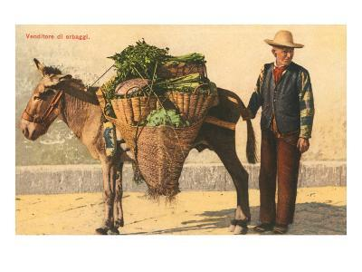 Vegetable Seller with Donkey, Italy