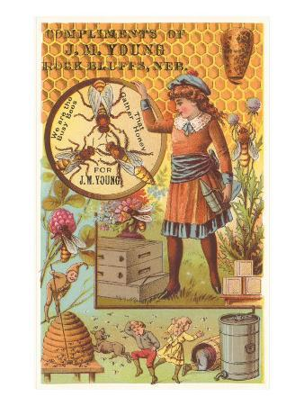 Victorian Girl with Beehive, Honey Comb