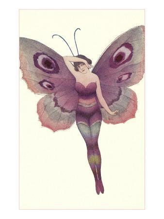 Lady as Purple Butterfly