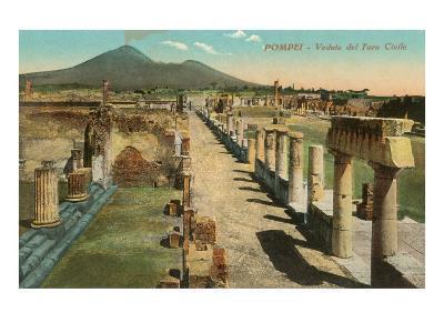 View of the Forum, Pompeii, Italy