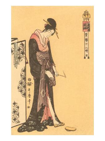 Japanese Woodblock, Geisha