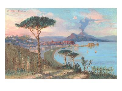 View of Bay of Naples, Italy