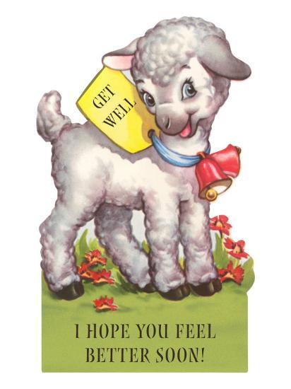 I Hope You Feel Better Soon Cute Cartoon Lamb Posters At Allposterscom