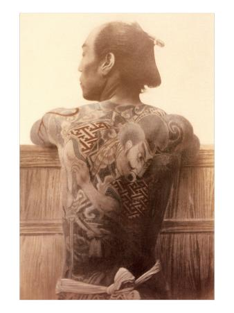 Yakuza with Tattooed Back