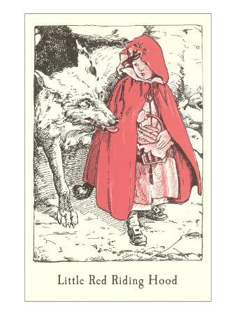 Engraved Illustration for Little Red Riding Hood