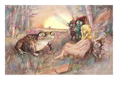 Fairy Talking to Frog
