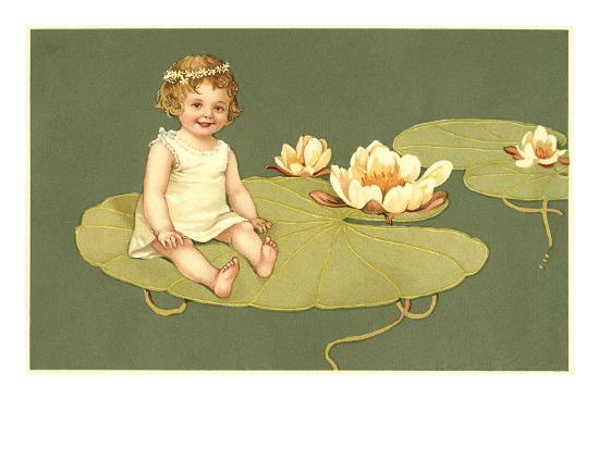 Little Girl on Lily Pad