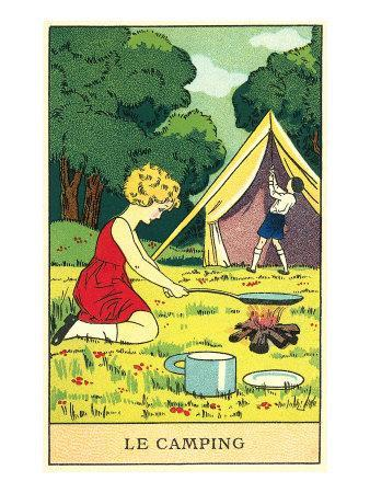 Children Camping
