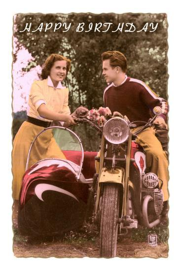 Happy Birthday Motorcycle And Sidecar Photo At AllPosters