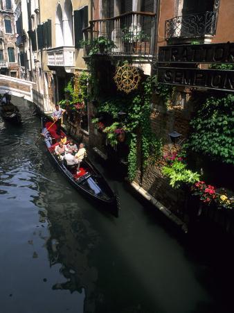 Gondola Ride on Canal, Venice, Italy