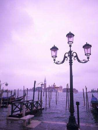Group of Gondolas, Venice, Italy