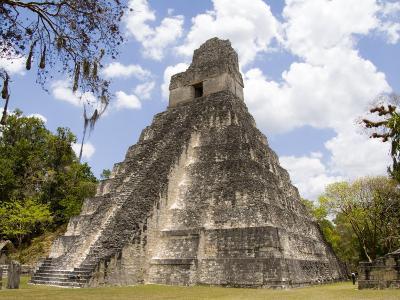 Tower 1, Mayan Ruins in the Gran Plaza, Tikal, Guatemala