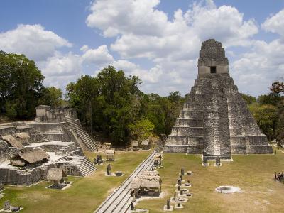 Tower 1, Mayan Ruins in the Gran Plaza, Tikal, Guatemala