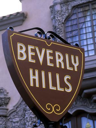 Beverly Hills Sign, Hollywood, California, USA