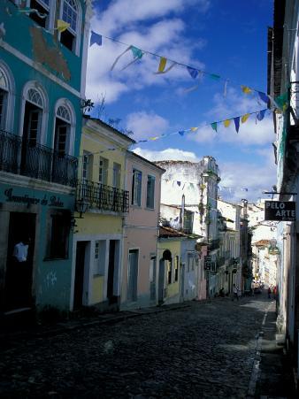 Ladeira Do Carmo Street, Pelourinho District, lvador Da Bahia, Brazil