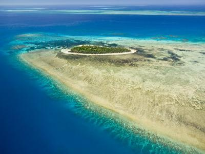Aerial View of Green Island, The Great Barrier Reef, Cairns Area, North Coast, Queensland