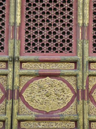 Hall of Supreme Harmony-door detail, The Forbidden City, Beijing, China