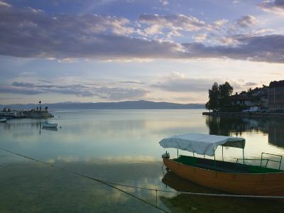 Lake Ohrid Harbor and Water Taxi, Macedonia