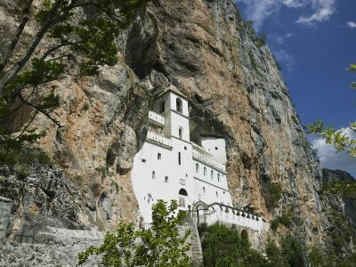 Ostrog Monastery Built into Mountain, Montenegro