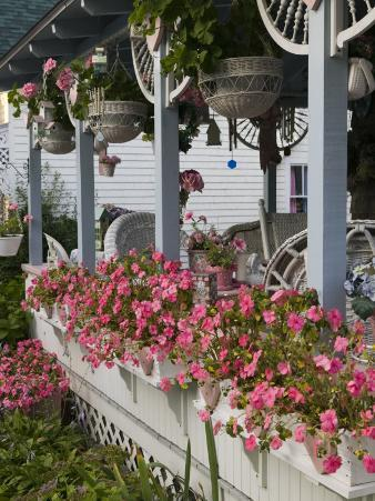 Gingerbread House Details, Oak Bluffs, Martha's Vineyard, Massachusetts, USA