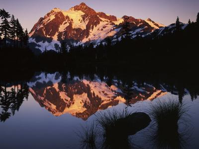 Mt. Shuskan in North Cascades National Park from Picture Lake, Washington