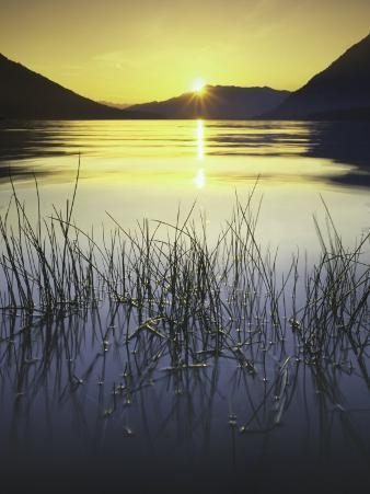 sunset, Lake Wenatchee, Wenatchee National Forest, Washington, USA
