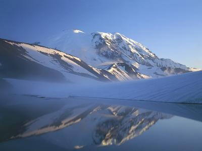Frozen Lake, Mt. Rainier National Park, Washington, USA
