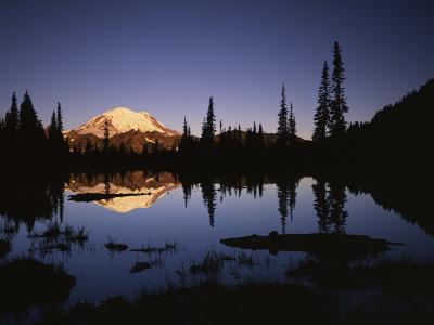 Mt. Rainier and Tipsoo Lake, Mt. Rainier National Park, Washington, USA