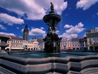 Fountain, Ceske Budejovice, Czech Republic