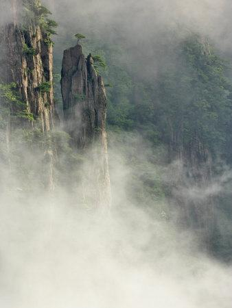 Peaks and Valleys of Grand Canyon in West Sea, Mt. Huang Shan, China