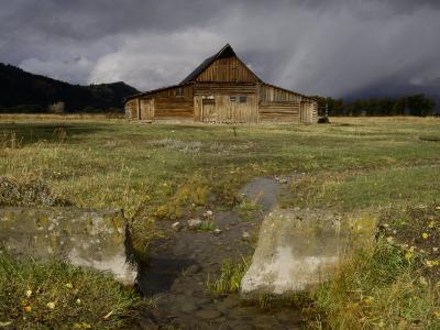 Old Barn in Antelope Flats, Grand Teton National Park, Wyoming, USA