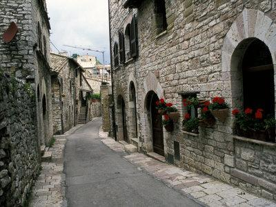 Medieval Street, Assisi, Umbria, Italy