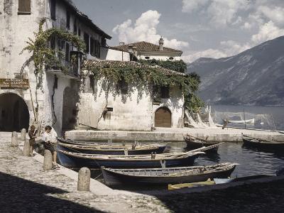 Italian Boys Fish in Lago Di Garda, Italy's Largest Lake